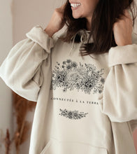 """Upload image to gallery, Beige Hoodie """"Connected to Earth"""""""