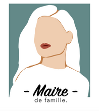 """Load the image in the gallery, Oversized white summer T-shirt model """"Maire de famille"""""""