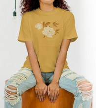 """Load the image in the gallery, Oversized mustard summer T-shirt, """"Maison Bonheur"""" model"""