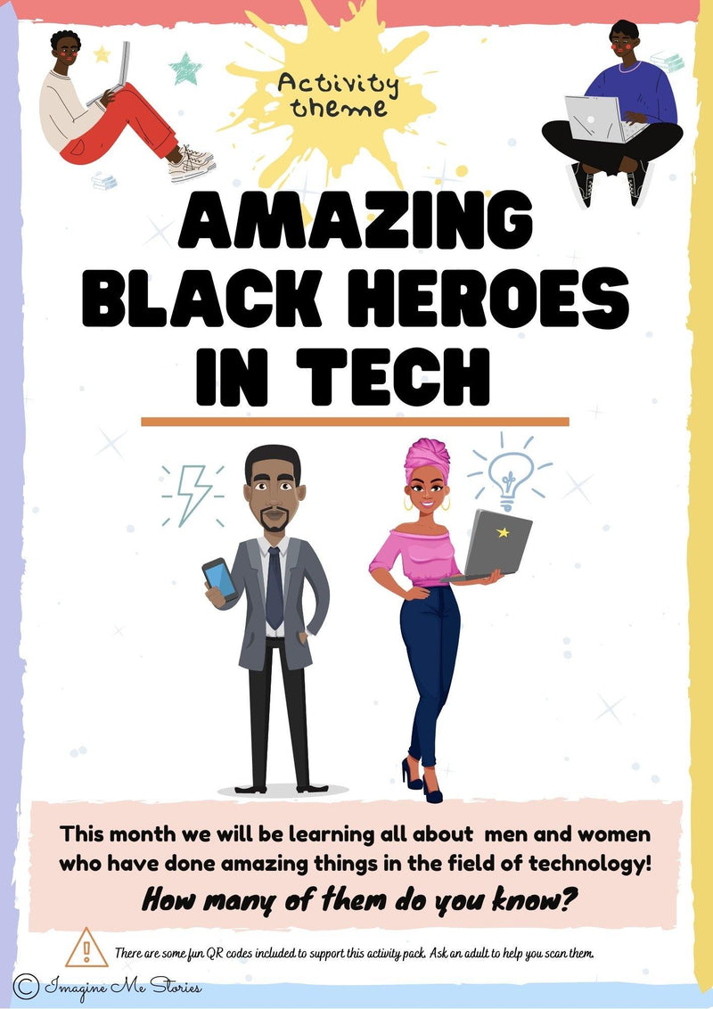 DIGITAL FILE: Amazing Black Heroes in Tech Activity Pack