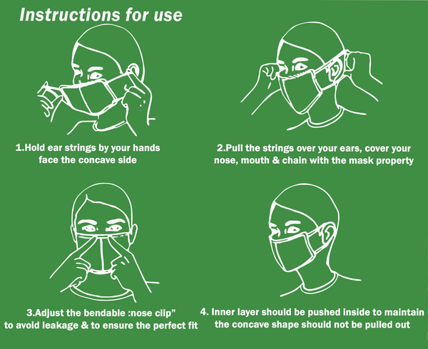 Instructions to use the Sustainme Face Mask