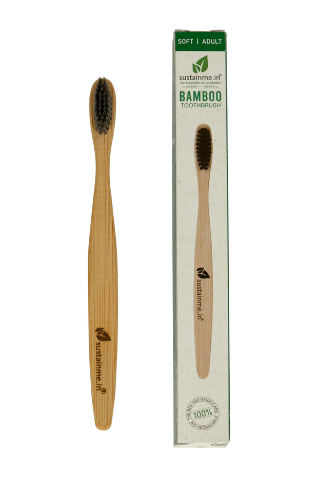 Sustainme Bamboo Charcoal Toothbrush 1 Pack