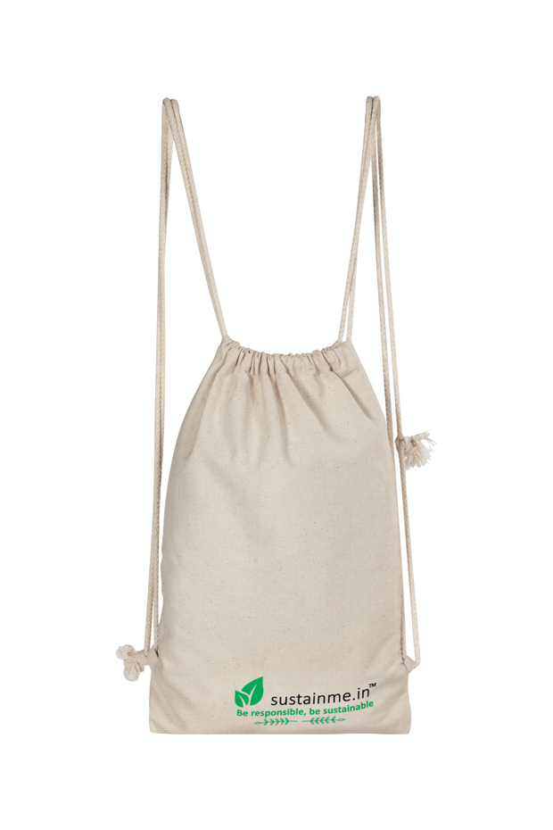 Sustainme Organic Cotton Drawstring Backpack
