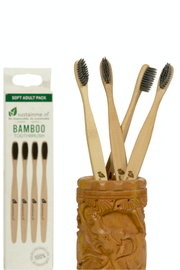 Sustainme Bamboo Charcoal Toothbrush 4 Pack
