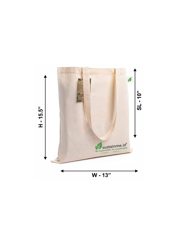 Sustainme Zipper Canvas Tote Bag for Women, Eco-friendly Handbags for Women Girls  / Pack of 3