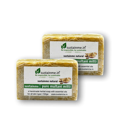 Sustainme Pure Multani Mitti  Soap - Pack of 2