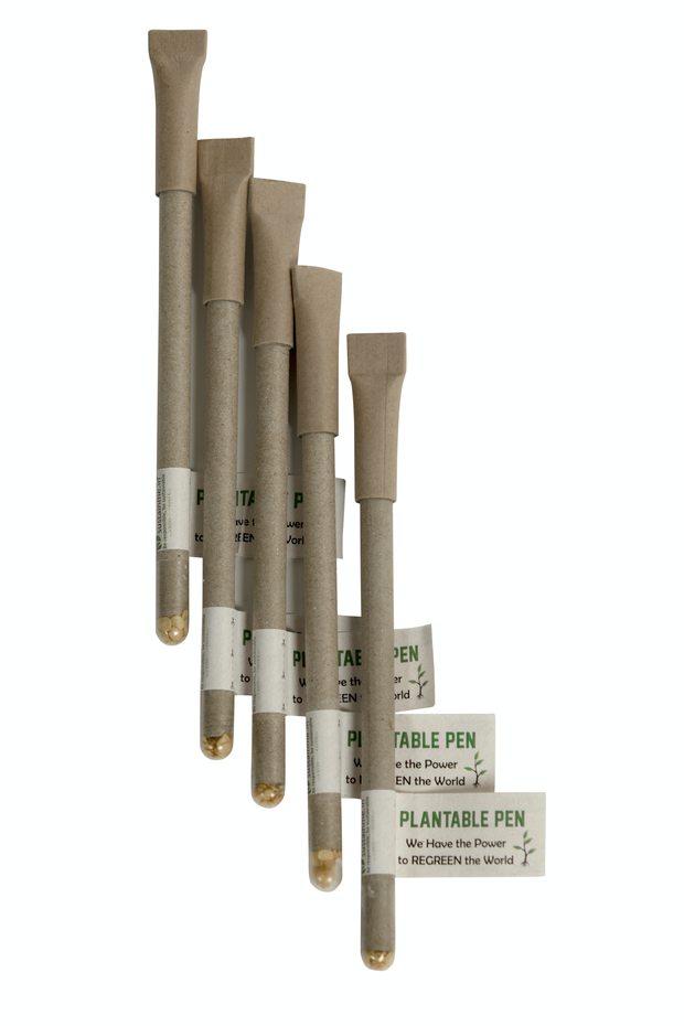 Sustainme Recycled Paper Plantable Pen 5 Pack