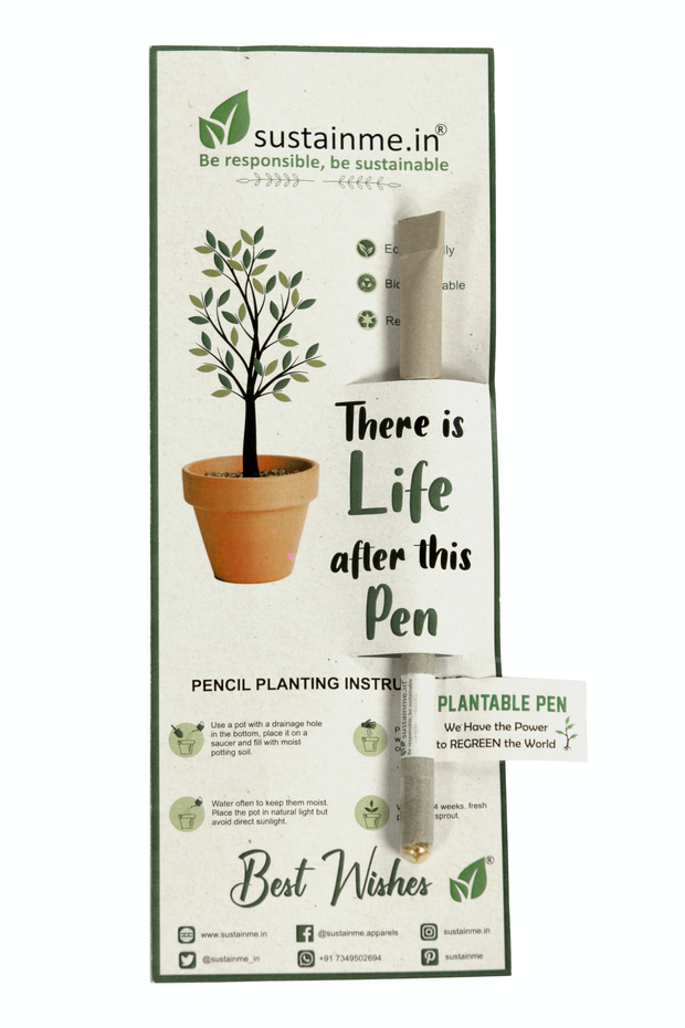 Sustainme Recycled Paper Plantable Pen 1 Pack