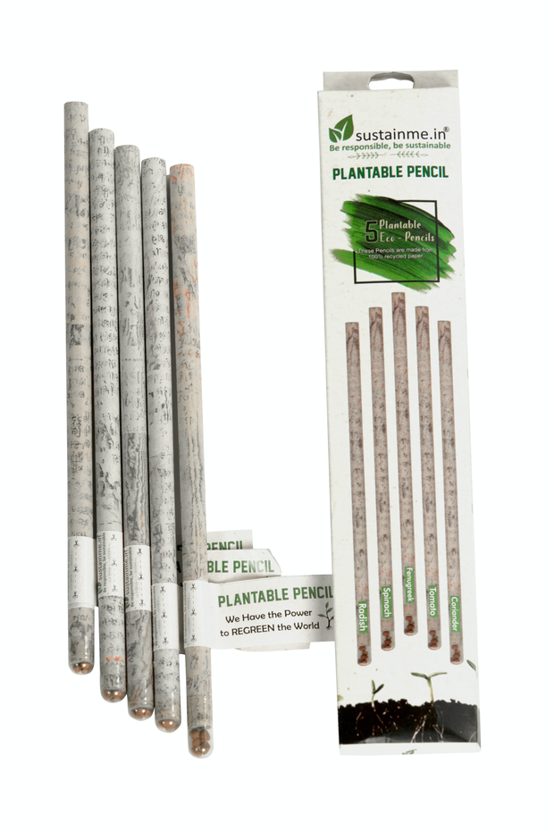 Sustainme Recycled Paper Plantable Pencil 1 Pack