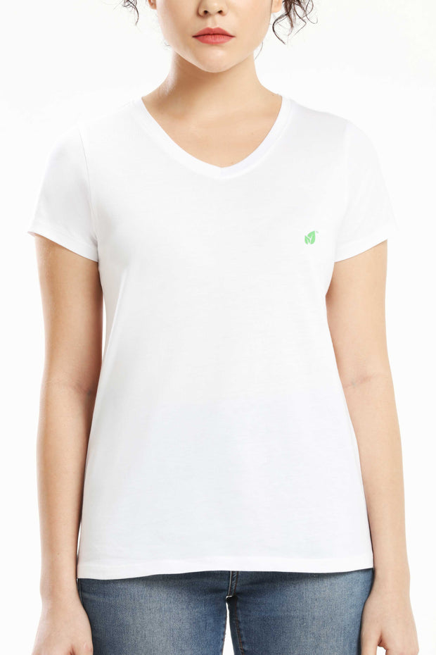 Pima Cotton Women T Shirt - White