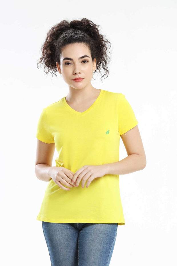 Pima Cotton Women T Shirt -  Dark Yellow