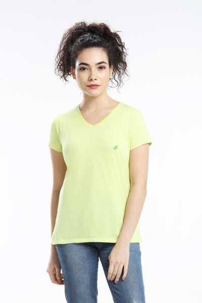 PIMA COTTON WOMEN T SHIRT - MINT