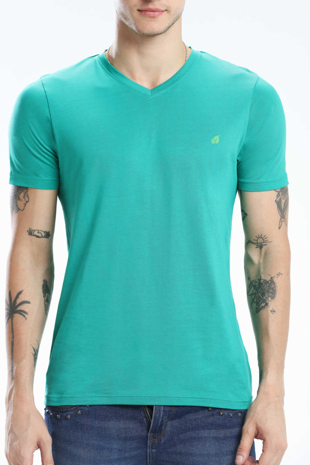 PIMA COTTON MEN T SHIRT - DARK GREEN