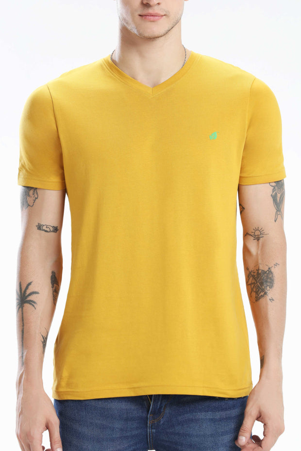 Pima Cotton Men T Shirt - Turmeric
