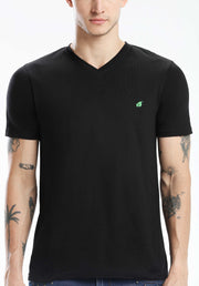 Pima Cotton Men T Shirt - Black