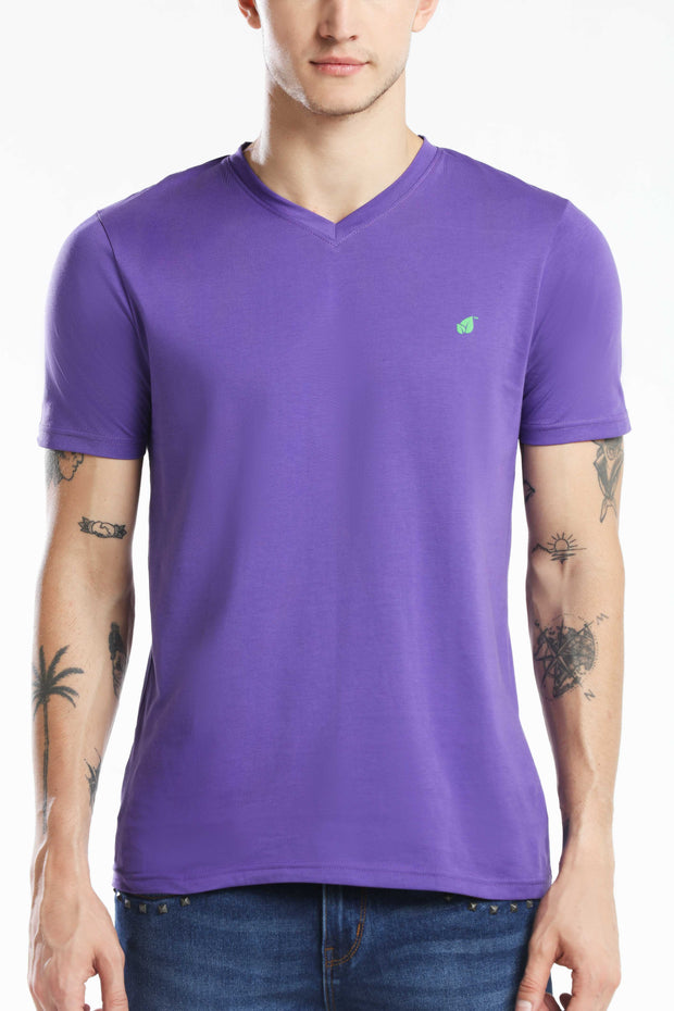 PIMA COTTON MEN T SHIRT - PURPLE