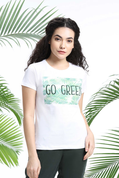 Go Green Womens T-Shirt