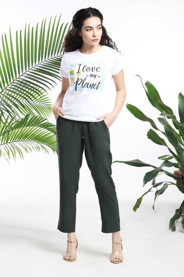 I Love my Planet Womens T-shirt