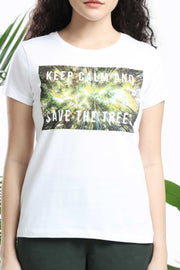 Keep Calm and Save the Trees Womens T-shirt