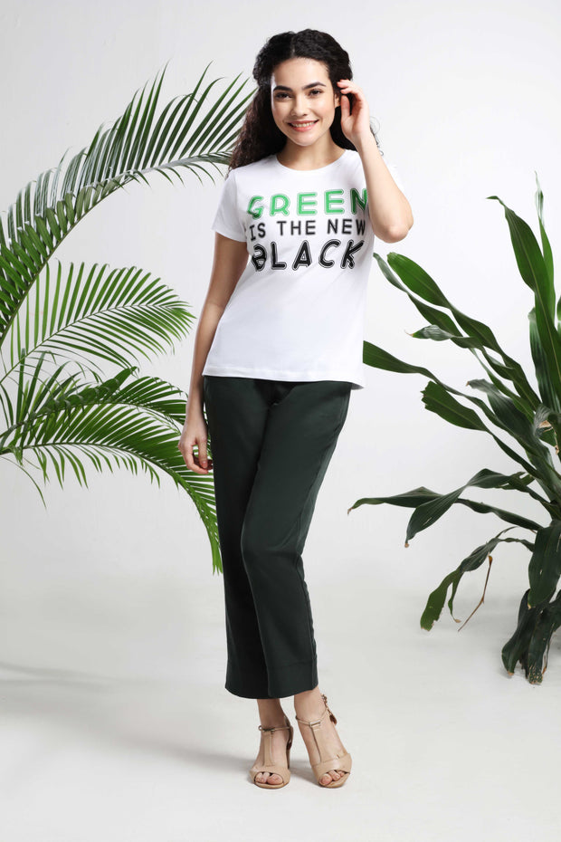 Green is the New Black womens T-shirt