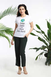 Keep Calm and Save our Earth Womens T-shirt