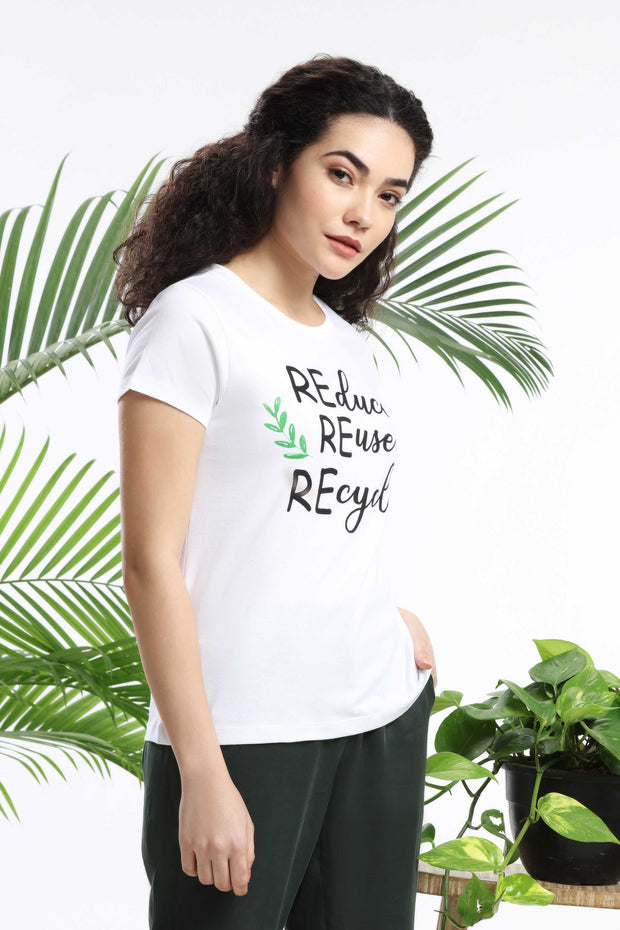 REduce REuse REcycle Womens T-shirt