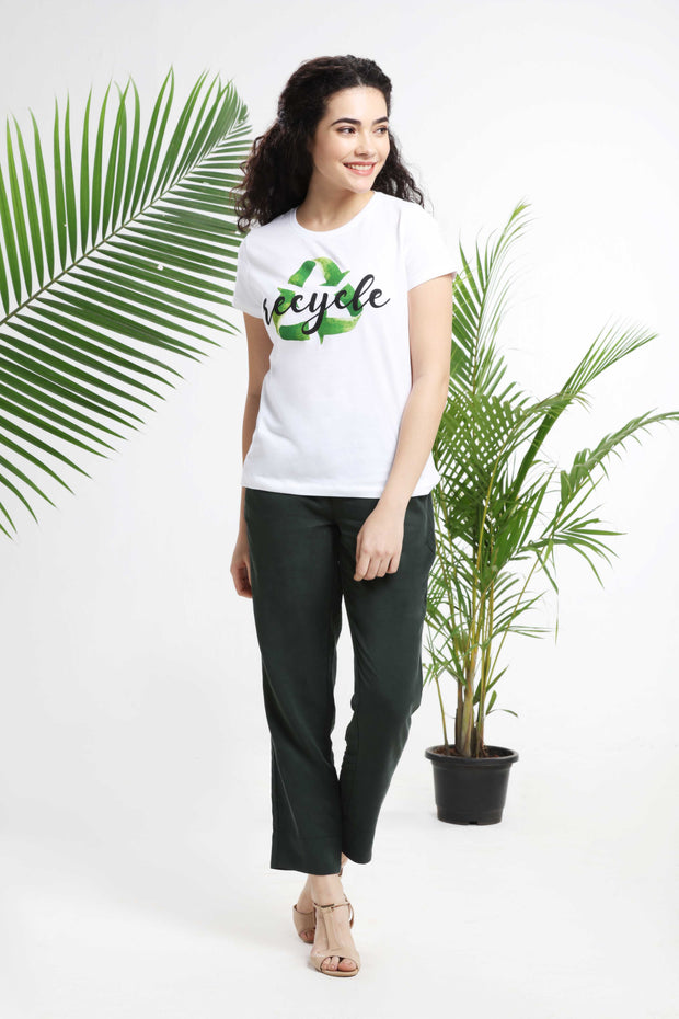 Recycle Womens T-shirt