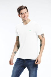 Pima Cotton Men T Shirt - White