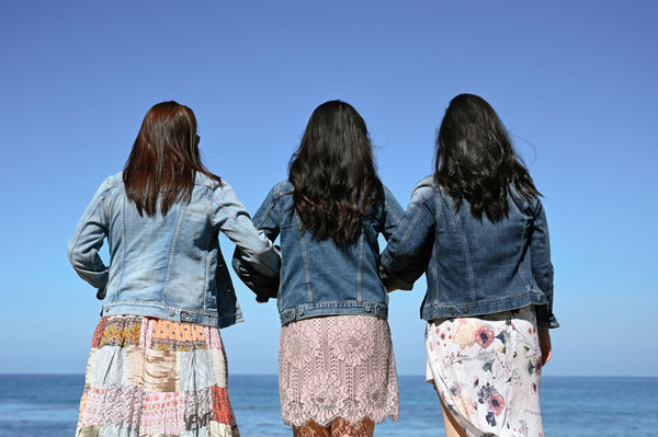 three women at beach with their backs to the camera symbolizing the importance of accountability