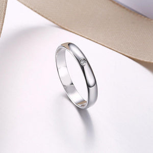 Sterling Silver Sleek Mini Stone Ring