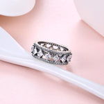 Sterling Silver Multi Swarovski Ring