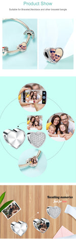 Personalized Photo Fit Pandora Bracelet Women DIY Charm