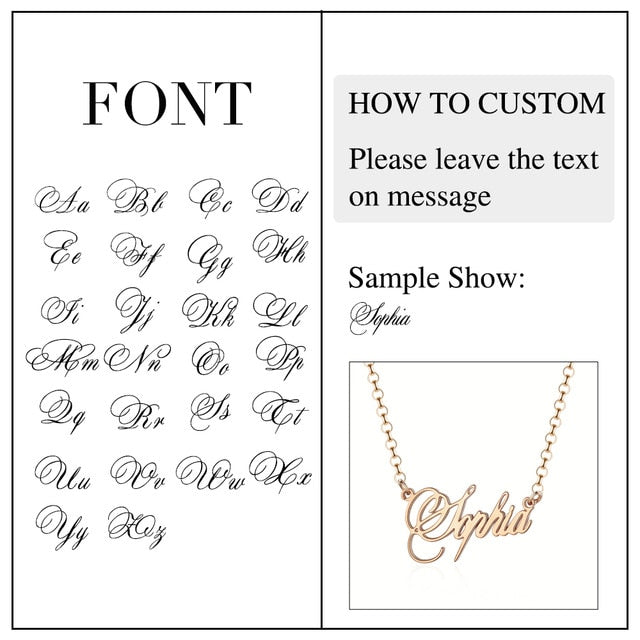 925 Sterling Silver Personalized Nameplate Letter Necklace Custom Made Name Pendant