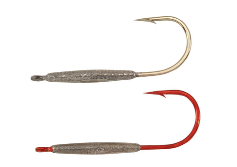 Straight Shank Flutter Hook Jig Heads