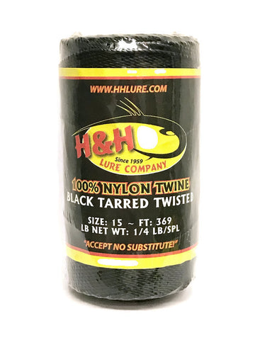 1/4 lb Black Tarred Twisted Twine - H&H Lure Company
