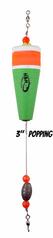 Weighted Coastal Popping Floats - H&H Lure Company