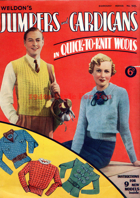 1930s Knitting Booklet - Weldon's Jumpers & Cardigans in Quick-To-Knit Wools