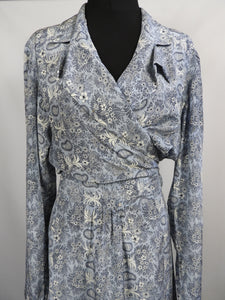 1940's Silk Crepe Dressing Gown - Beautiful Robe