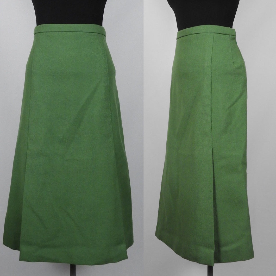 1940s Reproduction Wool Skirt - W32 33 Maximum