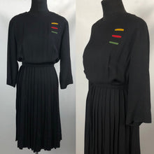 Load image into Gallery viewer, 1950s American Jack Dallas Black Day Dress - B38/40
