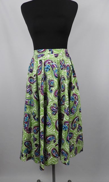 1950s Cotton Circle Skirt - W24