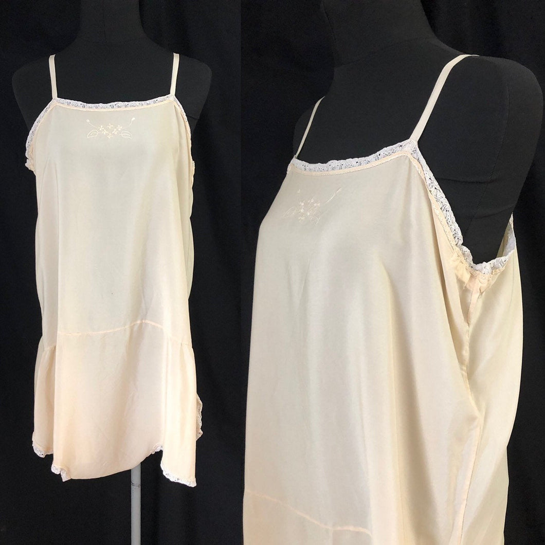 1920s 1930s Volup Crepe Step In - Cami - Camiknicker - B40