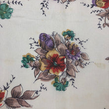 Load image into Gallery viewer, Original 1940s 1950s Silk Crepe Floral Hankie