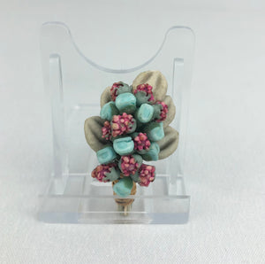 Original 1940s Make Do and Mend Bouquet of Flowers Brooch