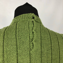 Load image into Gallery viewer, Reproduction 1940s Wartime Jumper in Turtle Green - Bust 33 34 35 36