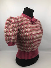 Load image into Gallery viewer, Reproduction 1940s Waffle Stripe Jumper Knitted from a Wartime Pattern - B38 40 42