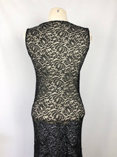 Load image into Gallery viewer, 1930s Black Lace Evening Dress  with Huge 10ft Skirt in a Floral Design - Bust 34 35