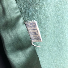 Load image into Gallery viewer, 1940s Sage Green Wool Coat with Real Fur Collar Trim - Bust 38 40