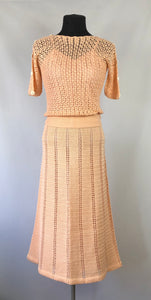 Original 1930s Crochet Skirt and Top Set - B34