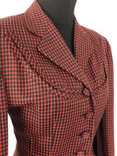 Load image into Gallery viewer, 1940s Black and Red Check Suit in Fine Wool - 36 38